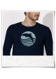 Sonnenuntergang mit Delfin Langarm Männer T-Shirt