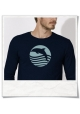 Sunset with Dolphin Longsleeve men's T-Shirt