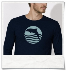 Longsleeve T-Shirt Sunset with Dolphin Organic Cotton & Fair Wear