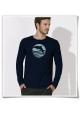 Langarm Männer T-Shirt Delfin / Sonnenuntergang mit Delfin