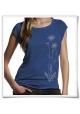 Flowers / women T-Shirt / Blue / Fair and Organic