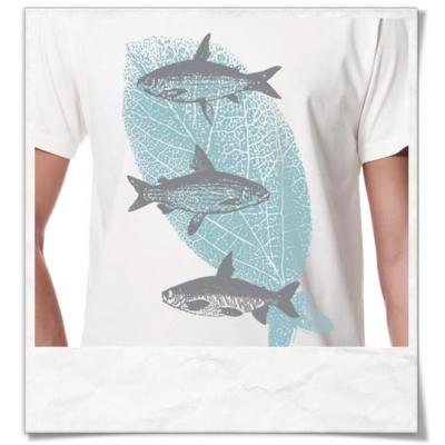 Fliegende Fische T-Shirt Fair & Biobaumwolle, Weiß