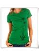 Blumen Damen T-Shirt in Grün / Fair Bio und Öko