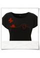 Schmetterling & Schnecke Frauen T-Shirt in Schwarz
