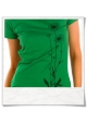 Flowers / women T-Shirt in green