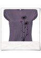 Blumen / Frauen T-Shirt / Lila / Fair Wear