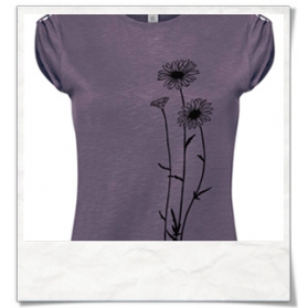 Blumen T-Shirt in lila