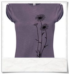 Flowers T-Shirt / Lila