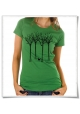 Women's T-Shirt Bird & the forest Fair Organic and Eco