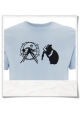 Hamster / Hamsterwheel / men T-Shirt / light blue / Fair Organic and Eco