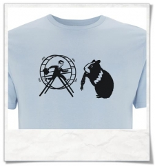 Hamster / Hamsterwheel / men T-Shirt / Blue / Fair Organic and Eco