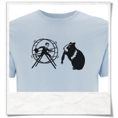 Männer T-Shirt Hamster / Hamsterrad / Hell-Blau / Fair Bio und Öko