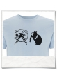 T-Shirt Hamster, out of the hamster wheel Organic & Fair in Blue